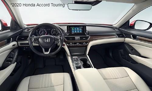 Interior view of 2020 Honda Accord Touring