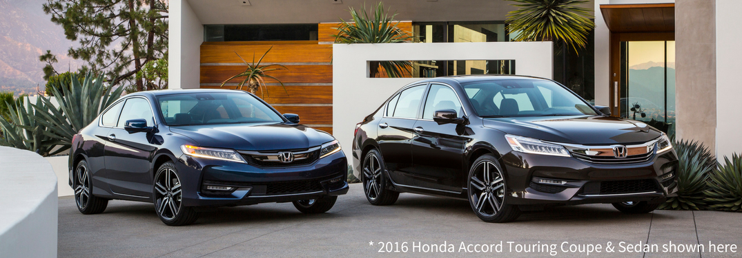 2016 Accord Sedan Coupe Next To Each Other