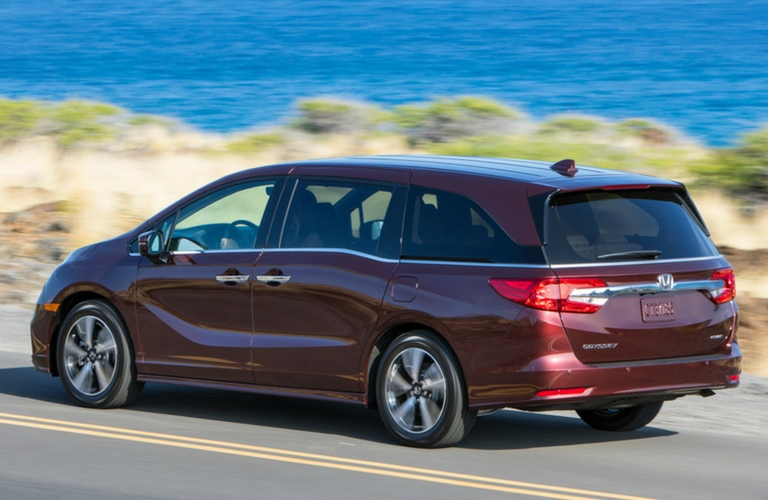 2019 Honda Odyssey Rear Side View In Maroon