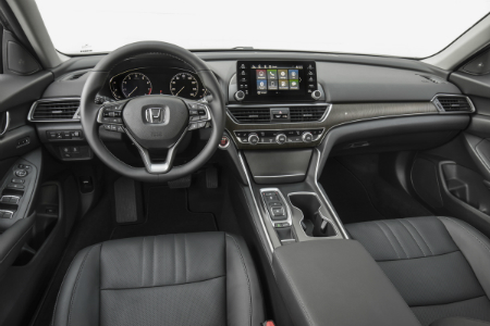 Amazing Front Interior Of 2018 Honda Accord Sedan Including Steering Wheel And  Infotainment System What Is A Continuously Variable Transmission?
