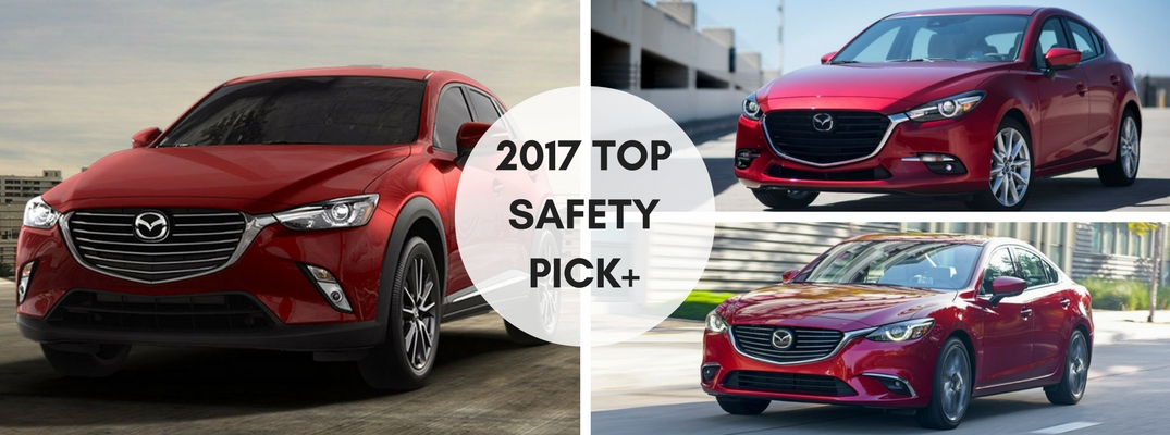 2017 IIHS Top Safety Pick Plus Awards for 3 Mazda vehicles