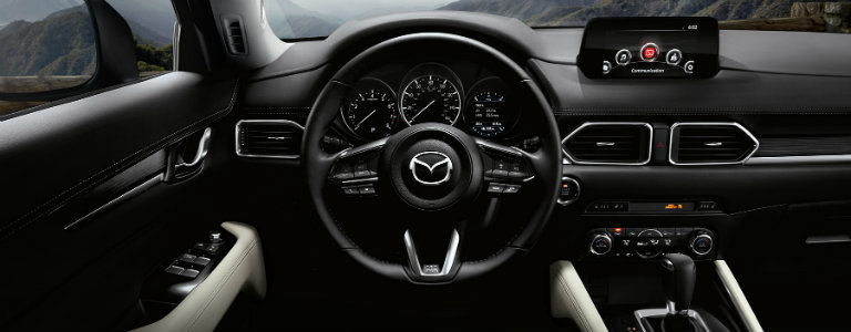 2017 Mazda CX-5 steering wheel dashboard
