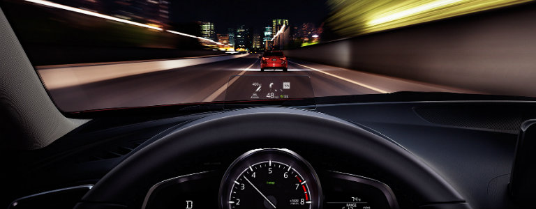 2018 Mazda3 head-up display