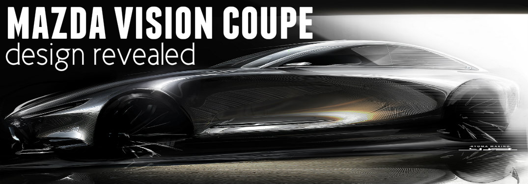 Mazda-Vision-Coupe-sketch-with-words-saying-Mazda-Vision-Coupe-design-revealed