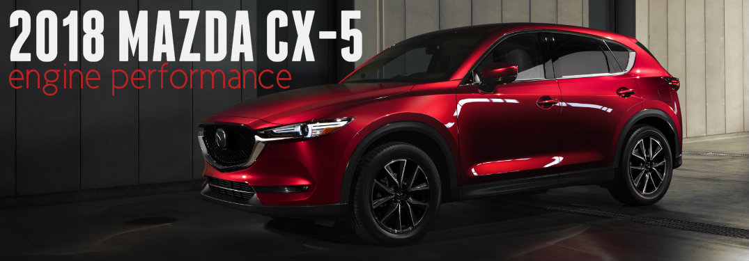Red-2018-Mazda-CX-5-in-dark-garage-with-text-overlay-saying-2018-Mazda-CX-5-engine-performance