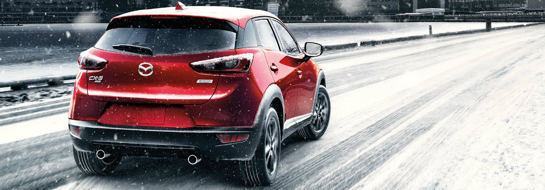 2018-Mazda-CX-3-driving-on-snow-covered-road