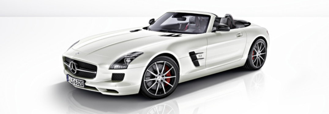 front left view of a white 2013 Mercedes-Benz SLS AMG