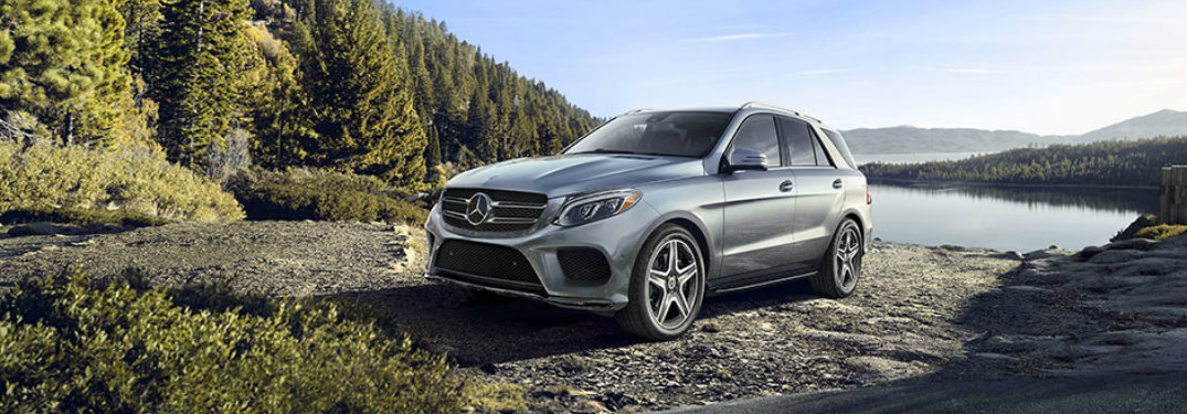 silver 2018 Mercedes-Benz GLE in front of cliff