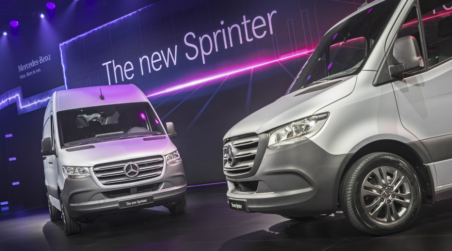 World premiere of the 2019 mercedes benz sprinter for Mercedes benz of reading