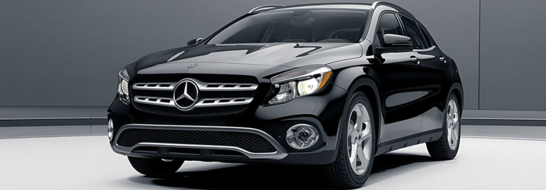 Front view of a black 2018 Mercedes-Benz GLA