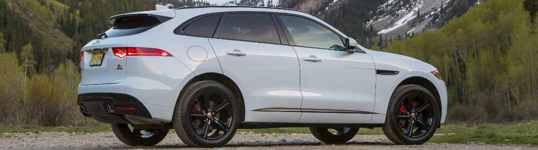2017 Jaguar F PACE Side White