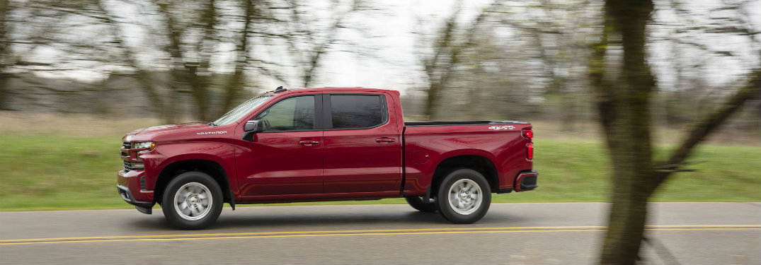 Side Profile Red 2019 Chevrolet Silverado