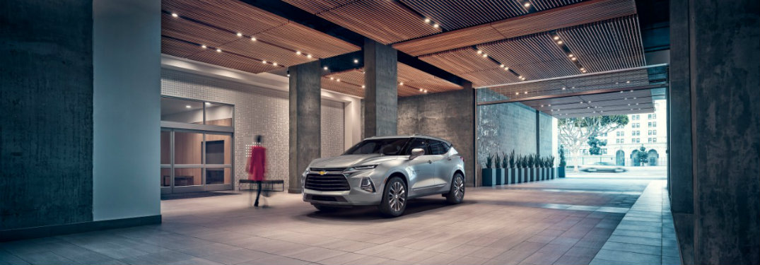 2019 Chevrolet Blazer parked indoors