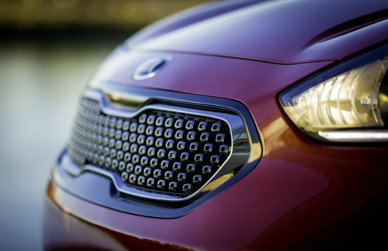 kia optima grill closeup