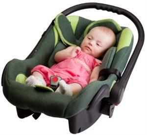 Baby Girl In Car Seat