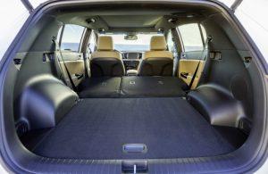 Kia Sportage rear seats folded down, cargo area