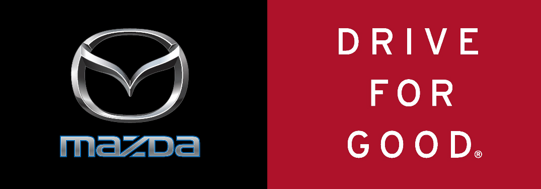 Mazda Logo and Drive for Good Title
