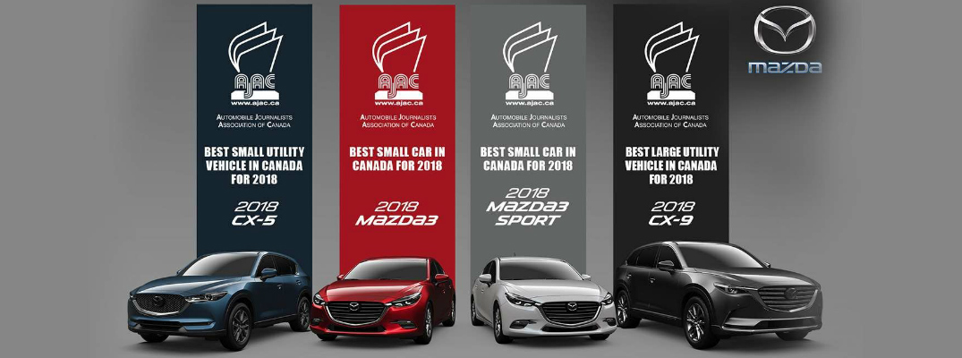 2018 Mazda Vehicles Win Ajac Automotive Journalists Awards
