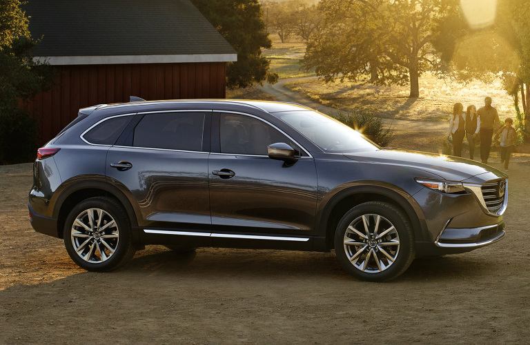 Side View of Grey 2018 Mazda CX-9