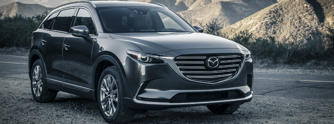 2018 Mazda CX-9 with Mountains in the Background