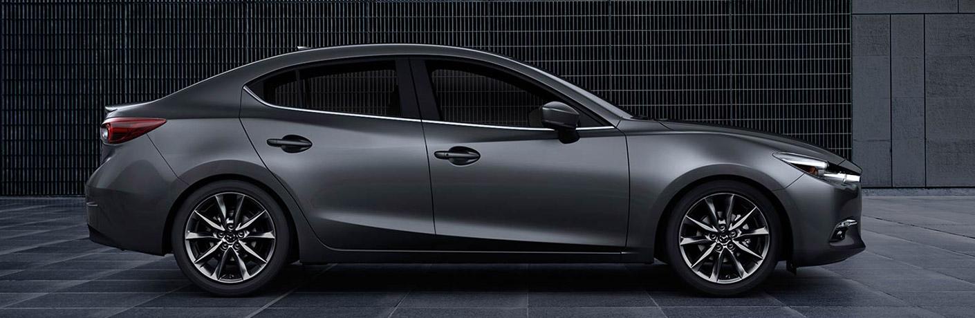 Side View of Grey 2018 Mazda3 Sedan