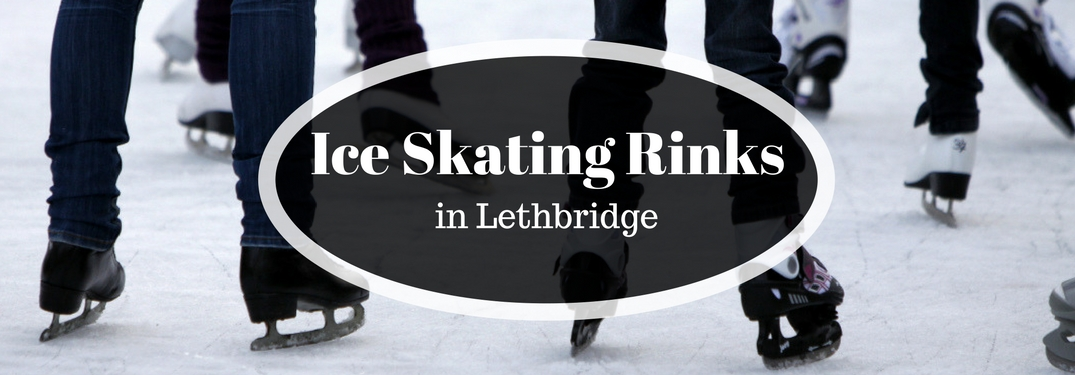 Ice Skating Rinks in Lethbridge Title and People Ice Skating