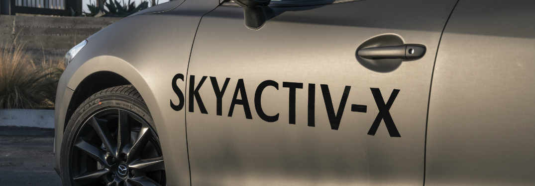 SKYACTIV-X Lettering on the Side of a Mazda Car