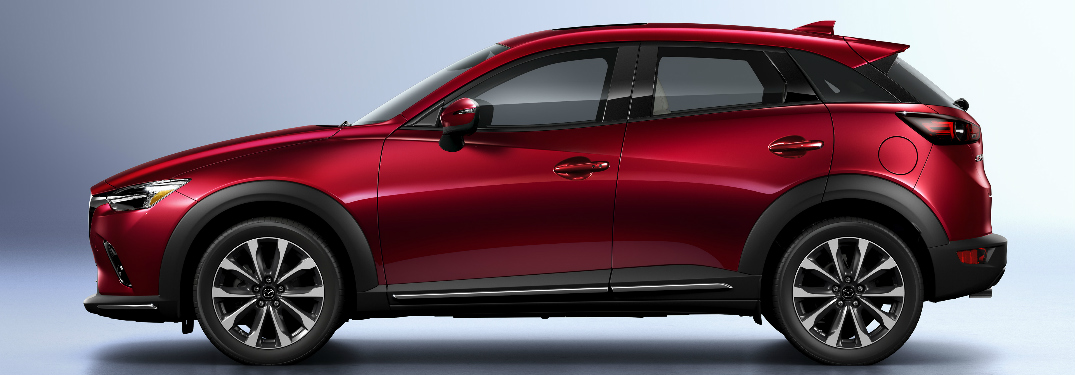 Side View of Maroon 2019 Mazda CX-3