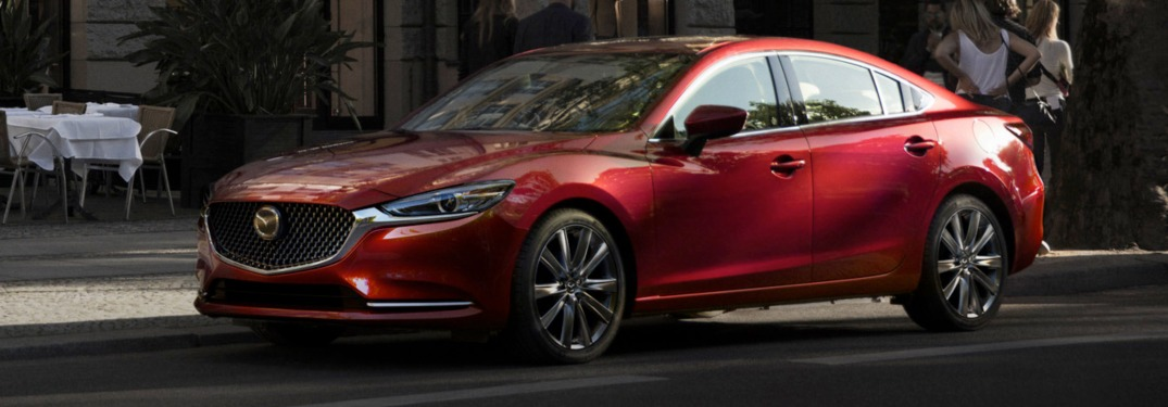 2018 Mazda6 driving in a city