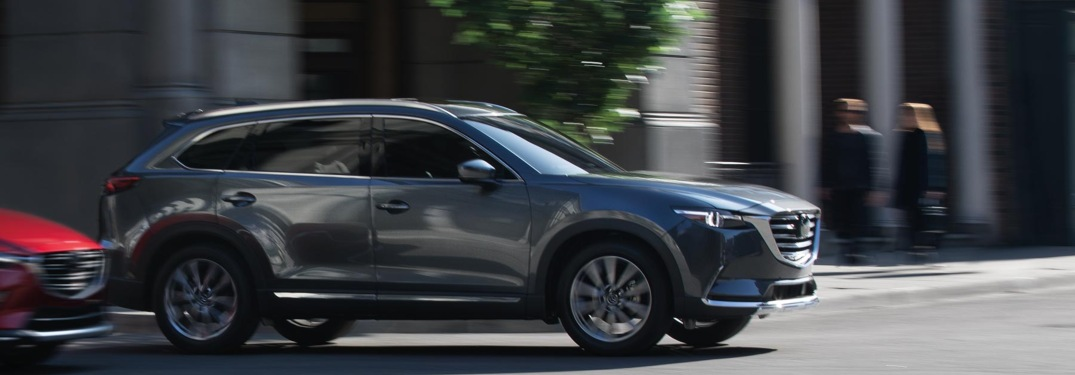 2019 Mazda CX-9 driving on a city road