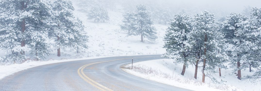 A winding winter road