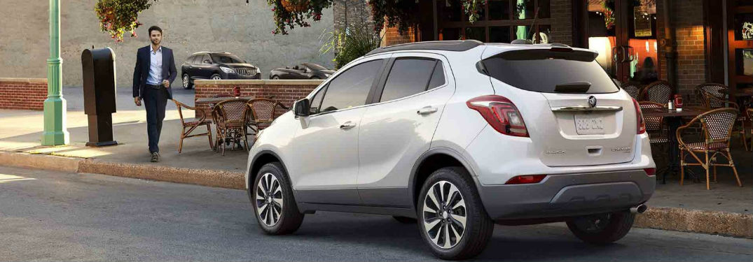 2018 Buick Encore parked on street showing side profile