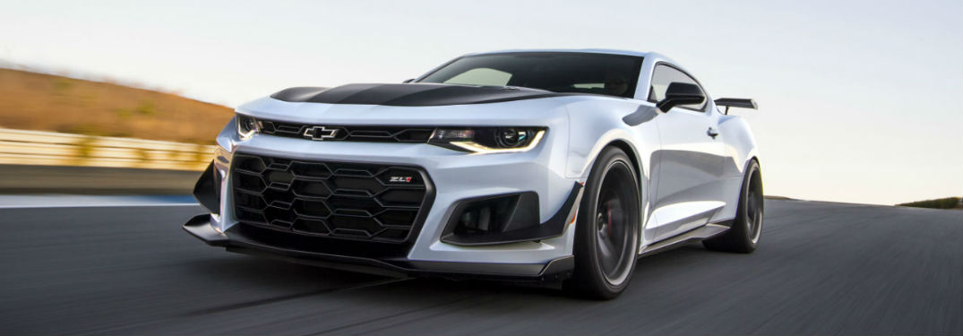 2018 Chevy Camaro driving on a track