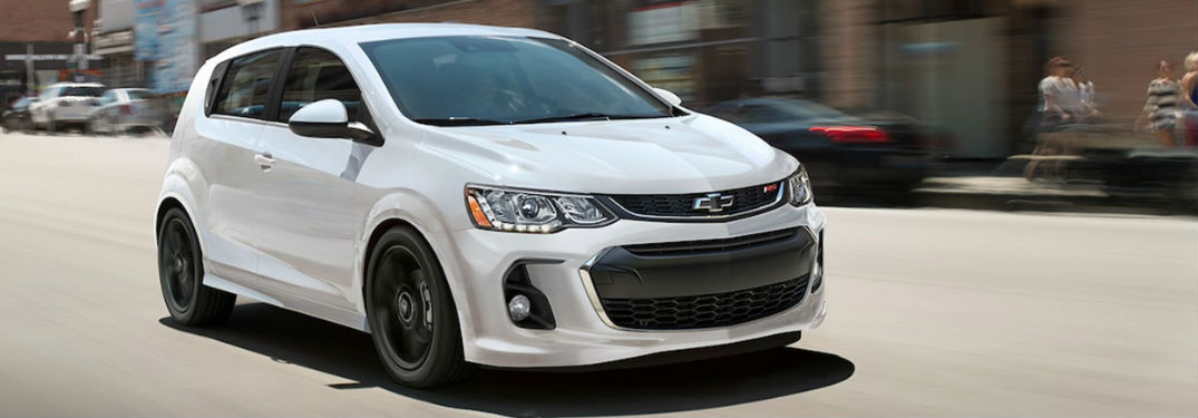 2018 Chevy Sonic driving down road