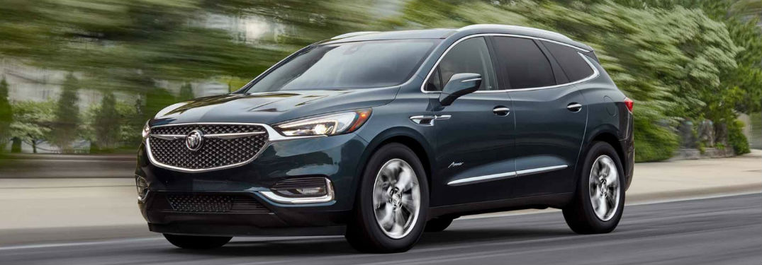 2018 Buick Enclave driving on a road