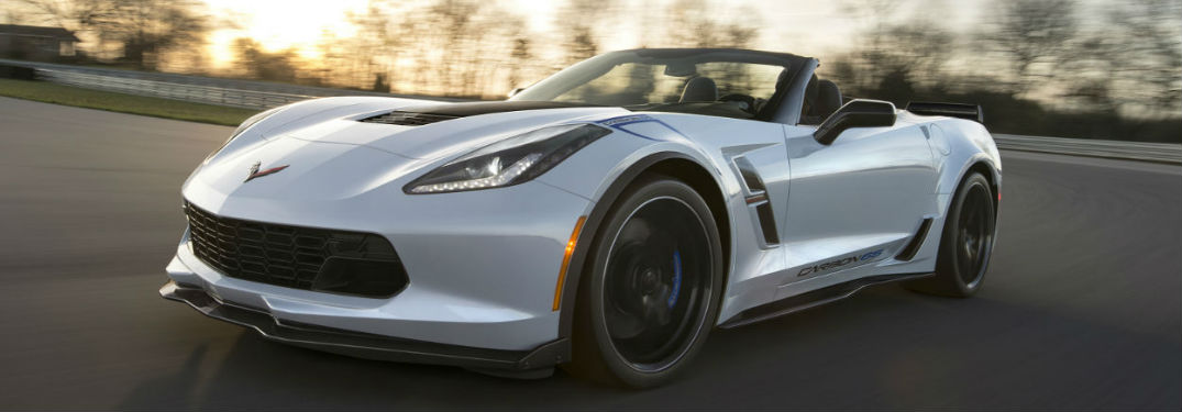 2018 Chevy Corvette driving on a road