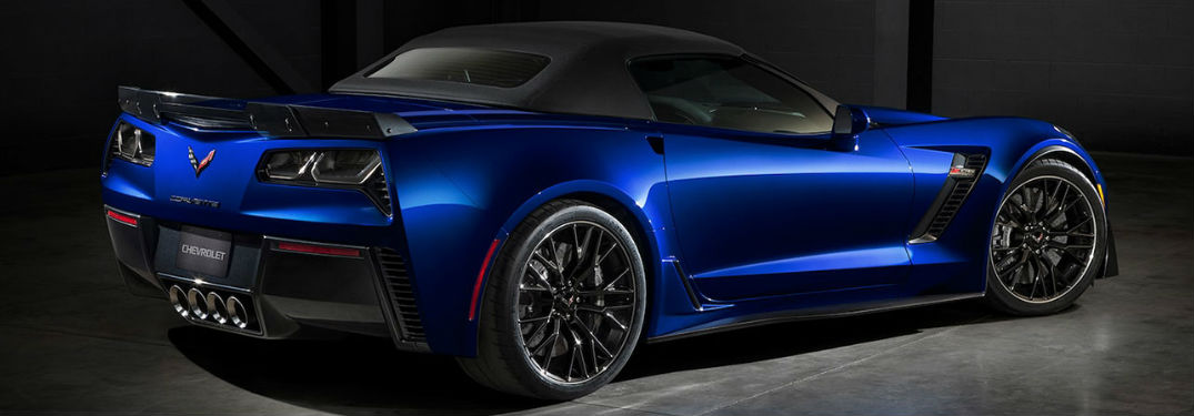 2018 Chevy Corvette side and rear profile