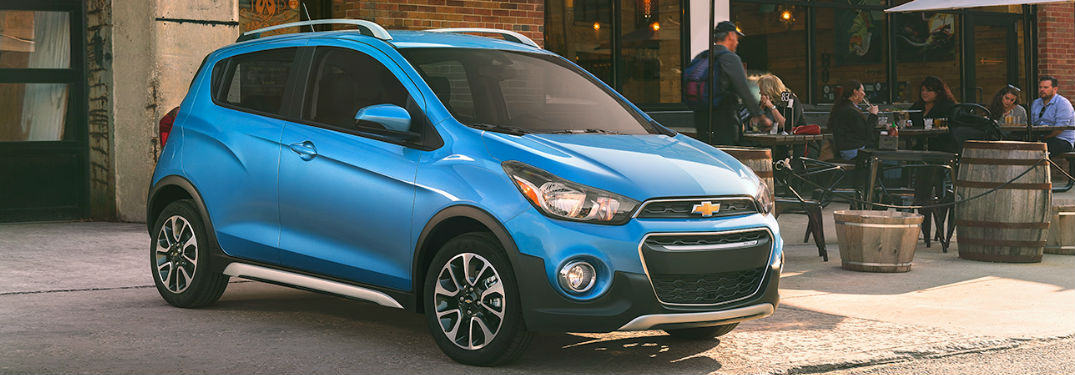 2018 Chevy Spark parked showing front and side profile