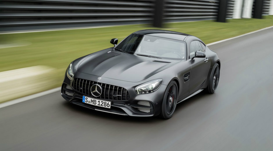 2018 Mercedes-Benz AMG® GT C driving along track