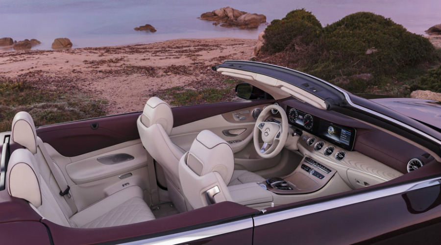 seating in the 2018 Mercedes-Benz E-Class Cabriolet