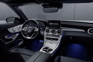2018 mercedes-benz c-class coupe front interior driver dash and