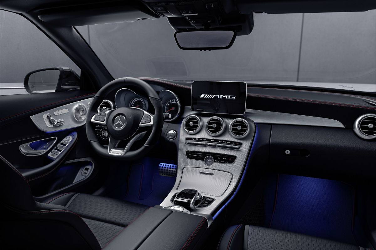 2018 Mercedes-Benz C-Class Coupe front interior driver ...
