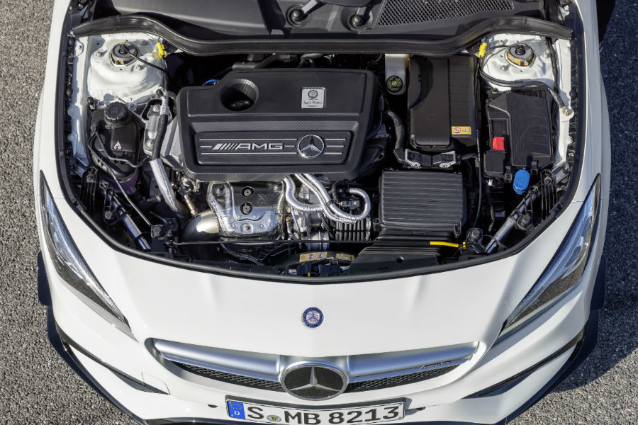 ... Picture Of Whats Under The Hood Of A 2018 Mercedes Benz CLA Coupe