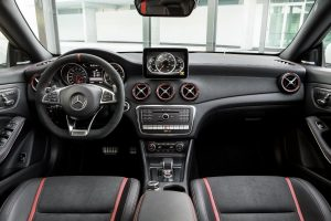 driver dash and infotainment system of a 2018 Mercedes-Benz CLA Coupe