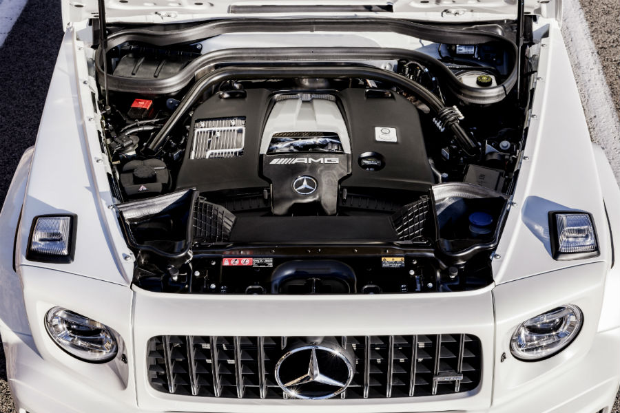 engine of a 2019 Mercedes-AMG G 63