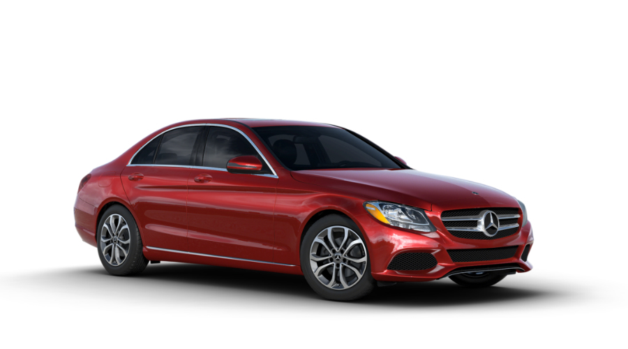 2018 Mercedes-Benz C-Class in designo Cardinal Red Metallic