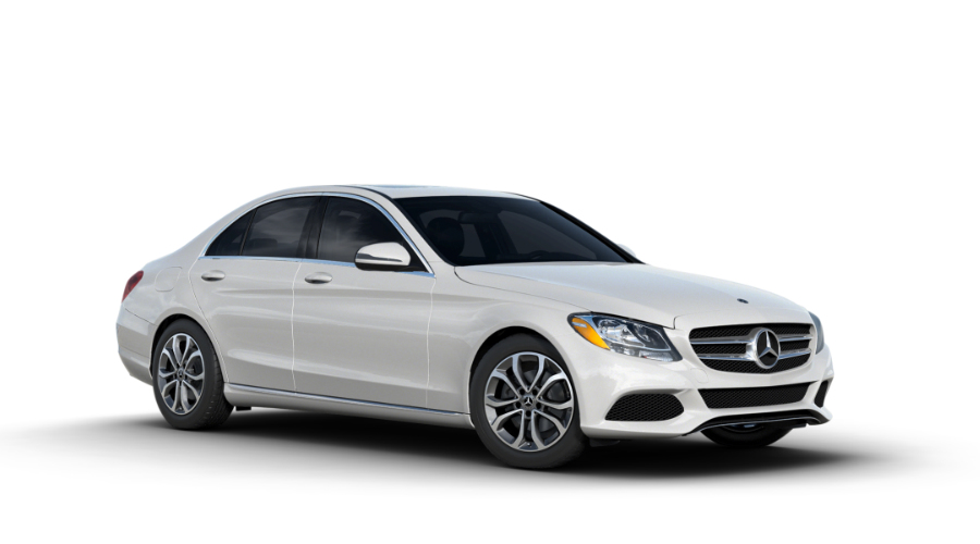 2018 Mercedes-Benz C-Class in designo Diamond White Metallic