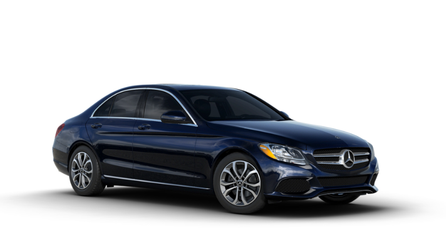 2018 Mercedes-Benz C-Class in Lunar Blue Metallic