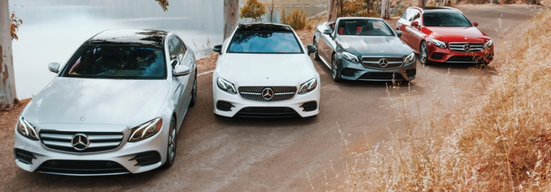 Four variations of 2019 Mercedes-Benz E-Class in a lineup