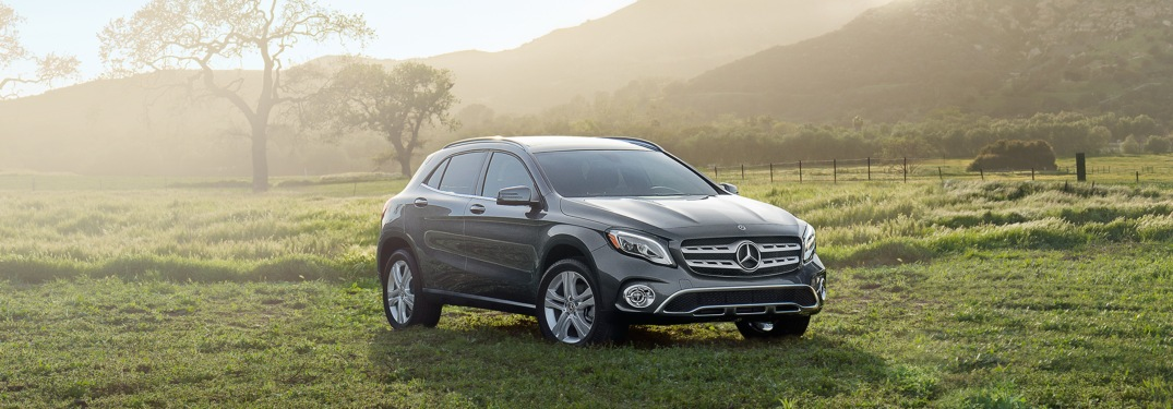 2018 Mercedes-Benz GLA parked in grass field